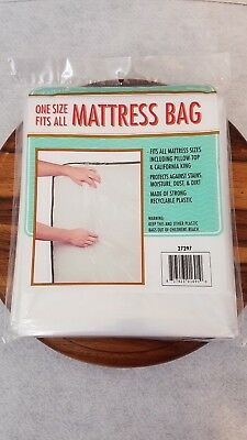 One Size Fits All Mattress Bag - Plastic cover for moving and storage