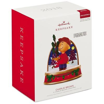 2018 Hallmark A CHARLIE BROWN CHRISTMAS Peanuts Storyteller Ornament