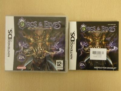 Nintendo DS Game Case + Manual * ORCS & ELVES * NO Game Included - Retro 33091