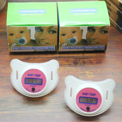 Digital Safety Mouth Nipple Temperature Baby LCD Pacifier Thermometer New