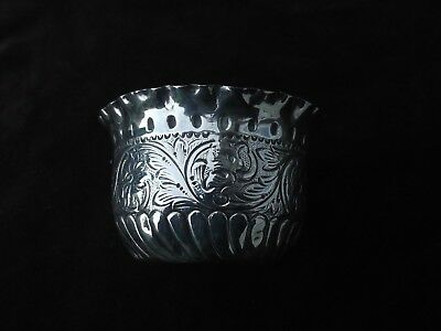 1891 attractive early Victorian solid silver bowl nice  decoration