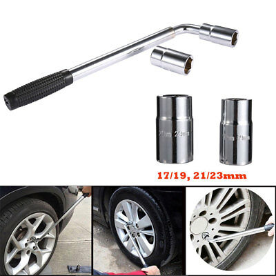 Extendable Wheel Brace Wrench Telescopic Car Van Socket Tyre Nut 17 19 21 23mm