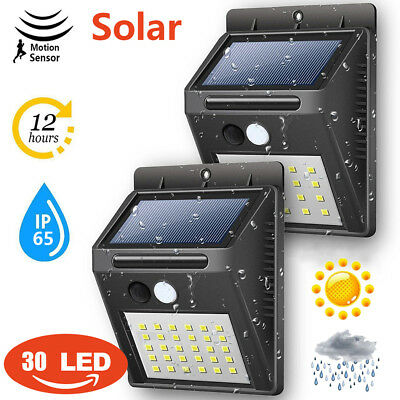 20/25/30 LED Solar Power Light Motion Sensor PIR Garden Outdoor Wall Light Lamp