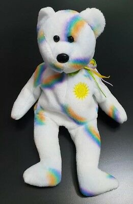 "Ty Beanie Babies Collection Bear Cheery 2001 8.5"" Tall Retired"