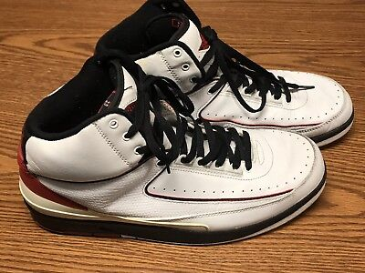 db5ade011c3e3e Nike 308308-161 2004 Air Jordan 2 Retro White Varsity Red Black Sz 11.5