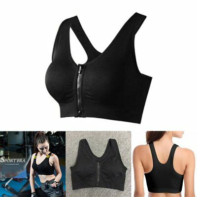 Magic Zip Bra One Sports Comfortable Women's Sport Tank Crop Top Push Up RN