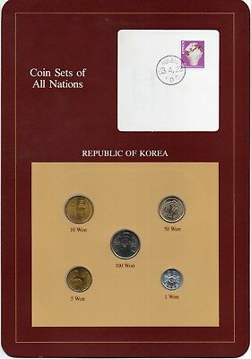 Korea  Coin Sets of All Nations  stamp  Won  BU
