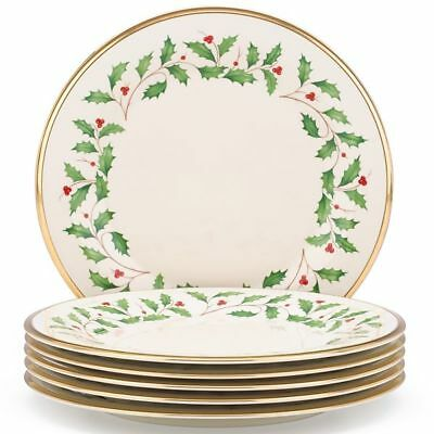 "Holiday 6-piece 10.5"" Dinner Plate Set by Lenox"