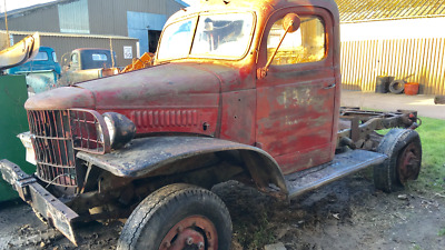 1942 Dodge WC40 Military WW2 halfton 4x4 pickup Barnfind project hotrod or V8