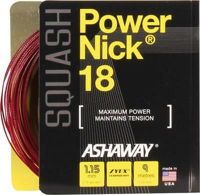 ASHAWAY PowerNick 18 Zyex Rolle rot Squash Saite String ZX Power Nick VICTOR
