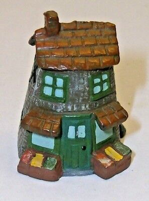 A Finely Detailed Hand Painted Pewter Village Thimble --The Local Shop--