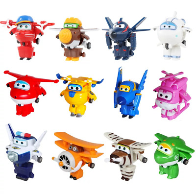 12 Style Mini Super Wings Deformation Mini JET ABS Robot Action Figures With Box