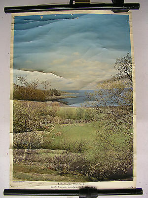 Schulwandkarte Wall Map Scotland Scotland HIGHLANDS Hole Sunart Glasgow 50x72