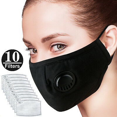 Masks Anti-Dust Smoke Gas Allergies Adjustable Reusable N95 Protection+10 Filter