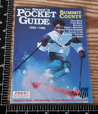 1995/96 48P Skier Guide Of The Summit Arapahoe, Copper, Keystone, & Breckenridge