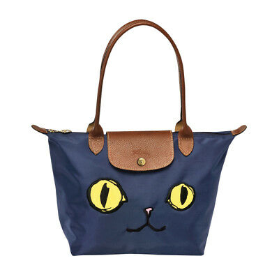 fc009bfaea32 LONGCHAMP LE PLIAGE Limited Edition Miaou Cat Blue Eyes Small Tote ...