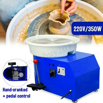 350W 220V Electric Pottery Wheel Ceramic Machine Foot Flexible Pedal Work Clay