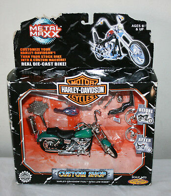 HARLEY DAVISON Metal Maxx FXDL Dyna Low Rider Real Die Cast Toy Motorcycle 1:20