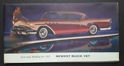 Original 1957 Buick Car Sales Brochure Super Roadmaster Century Special