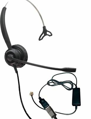 XS 820 Headset Bundle with Ergonomic Telephone Cable | For RJ9 Phones with Heads