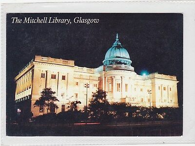 COLOURPOSTCARD: The Mitchell Library, Glasgow at night