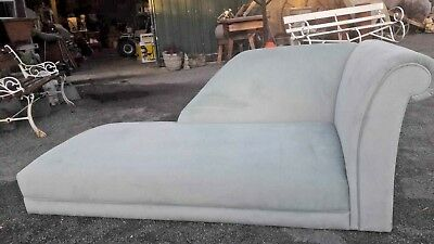 Collins & Hayes Chaise Lounge Chair - Blue - Living Room - Bedroom - Fabric