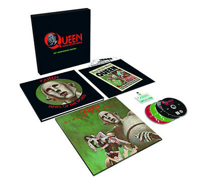 """Queen : News of the World CD 40th Anniversary  12"""" Album with CD and DVD 5"""
