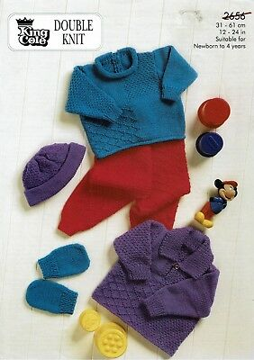 King Cole Baby/children's Dk Outfit Knitting Pattern 2656