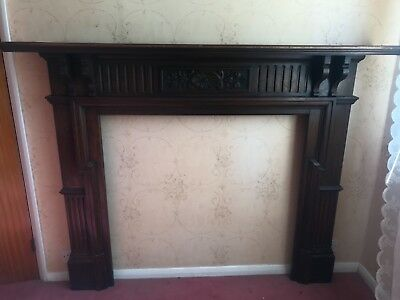victorian solid wood fire surround ornate