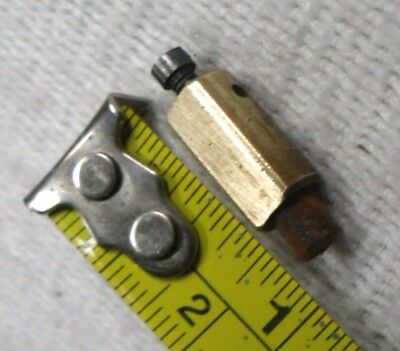 Vintage Antique Clock:UNIVERSAL STRIKING CHIME GONG FELT/BRASS HAMMER,Spare Part