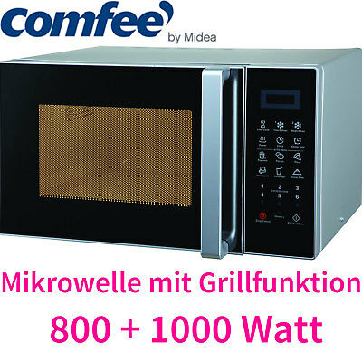 Comfee by Midea 23 Liter XL Mikrowelle + Grill Pizza-Funktion, 10 Programme NEU
