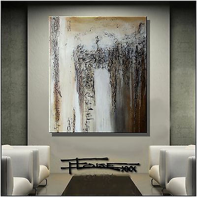 ABSTRACT Modern PAINTING Large CANVAS WALL ART Framed, Signed, US  ELOISExxx