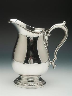 Antique Sterling Silver Water Pitcher, 4 Pint Capacity, made by Wallace Silver