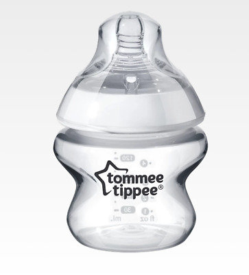 2x Tommee Tippee Closer to Nature Clear Bottles, 150 ml,  Anti Colic Valve, TWO