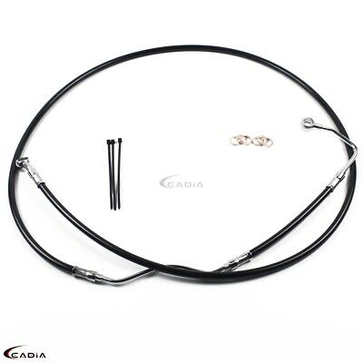 "+6"" Stainless Upper ABS Front Brake Cables Line Kit For Harley Road Glide 09-13"