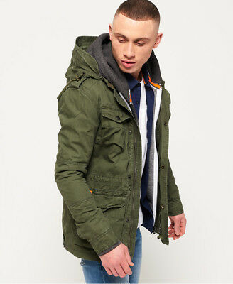 New Mens Superdry Rookie Para Parka Jacket Patrol Khaki