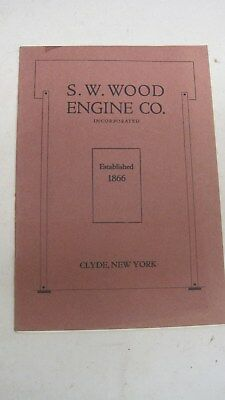S. W. Wood Engine Co.Traction Engines Advertising Booklet Oil Pulls Steam Engine
