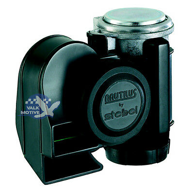 Stebel Nautilus Compact black horn 12V for cars / motorcycles - extremely loud!
