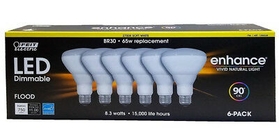 Feit Led 90 Cri Dimmable 83w Br30 Flood Bulbs 65 Watt Replacement 6 Pack