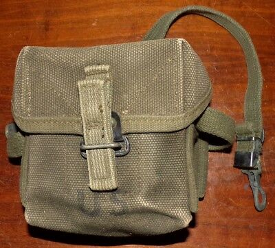 Rare Vietnam War Era Us Army Canvas Small Arms Ammo Pouch - 1968 - Nice!