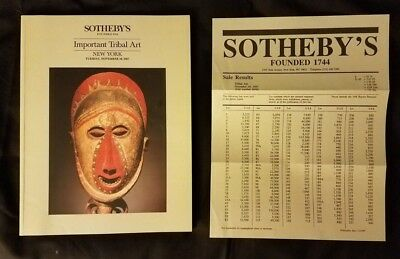 Sotheby's Important Tribal Art 1987 Yoruba Igbo Cook Islands Staff God Hooper