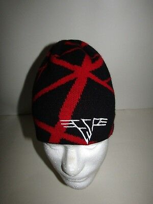 Emily the Strange Black Red Beanie Hat Cap 00s Y2K Fashion