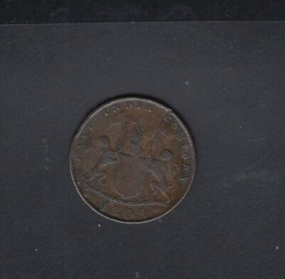 British East India Company Copper Coin 10 Cash 1808 Madras Presidency