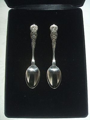 "2 Vintage New York Souvenir Spoons-6""-Silverplate-Wm Rogers-Nr Mt Cond."