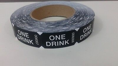 Custom One Drink  Tickets -  One roll of 1,000 Tickets -