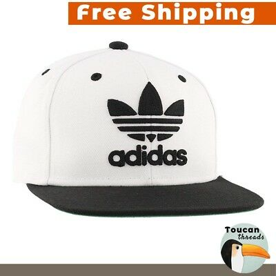 ADIDAS Originals Thrasher Hat snapback Trefoil Chain logo Cap Black and  White 3f242a4ae1d