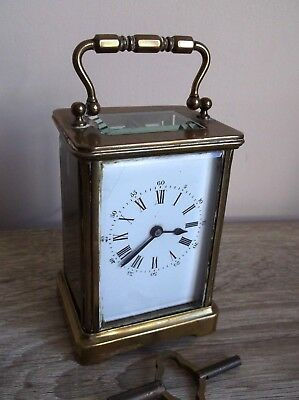 antique carriage clock WORKing with key