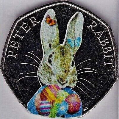 🥕 2016 Peter Rabbit easter bunny Uncirculated 50p Coin decal Sticker🥕