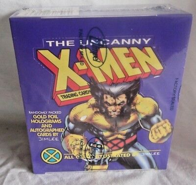 THE UNCANNY X-MEN trading cards 1992 Purple box  sealed (BH)