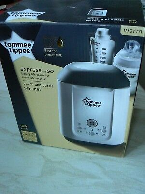 Tommee Tippee Express & Go Baby Pouch & Bottle Warmer Super Condition